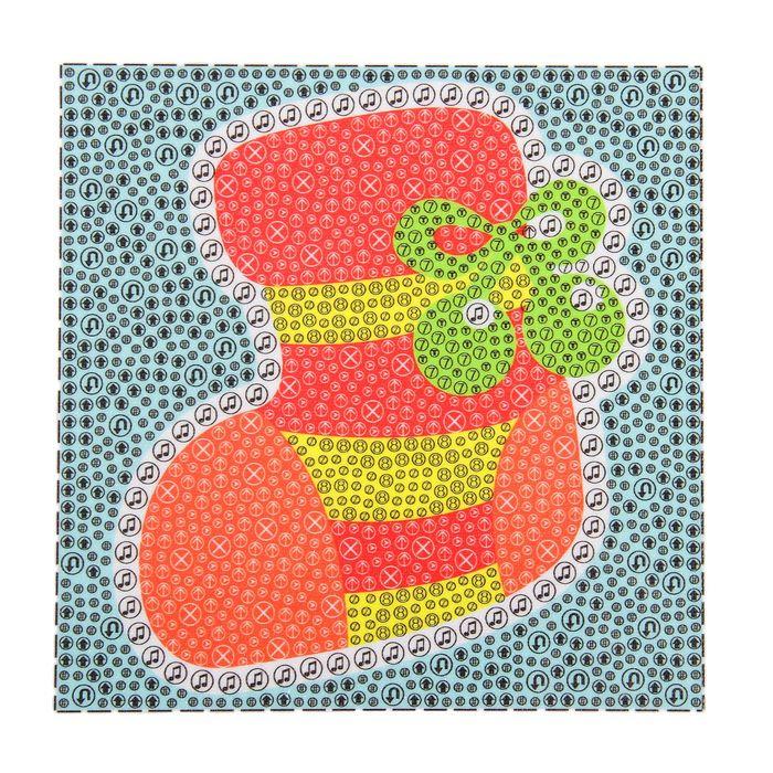 """Алмазная мозаика """"Мешок для подарков"""" рамка 15х15 с подставкой"""