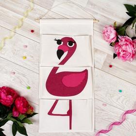 Кармашек подвесной водонепроницаемый «Фламинго», карман: 28,5 × 17 см