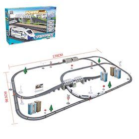 """Железная дорога """"Экспресс"""", работает от батареек, длина пути 9,14 м., свет"""