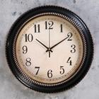 """Часы настенные, серия: Классика, """"Бордо""""  d=30 см, дискретный ход, циферблат под старину - фото 7931134"""