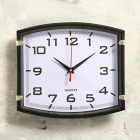 """Часы настенные, серия: Классика, """"Модерн"""", чёрные, 25х22 см"""