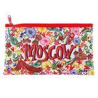 Пенал мягкий «Русские мотивы», для девочки, 1 отделение, плоский, блёстки или краска, 105х195 мм