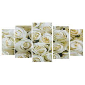 """Картина модульная на подрамнике """"Белый букет"""" 2-40*80; 2-50*100; 1-60*120: 120*250 см"""