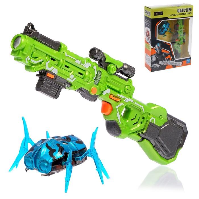 """Электронный тир """"Подстрели жука"""", световые и звуковые эффекты, работает от батареек, цвета МИКС"""