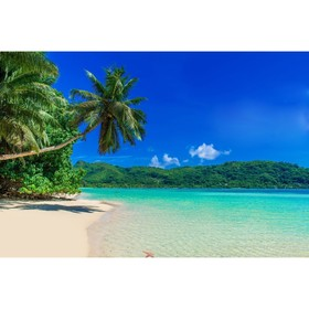 "Photo banner, 250 × 200 cm, with photo printing, ""Beach""."
