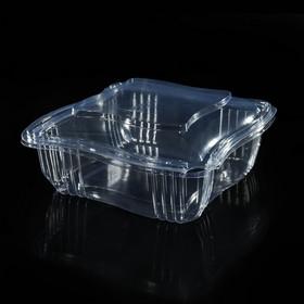 Контейнер для торта 18×18×7,5 см, 1,3 л, с крышкой