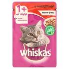 Влажный корм Whiskas для кошек, мини-филе говядина, пауч, 85 г