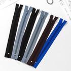 Молния для одежды «Спираль», неразъёмная, 23 см, 6 шт, разноцветные