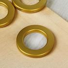 Люверсы для штор, d=3,1/5,5см, 10 шт, цвет золотой