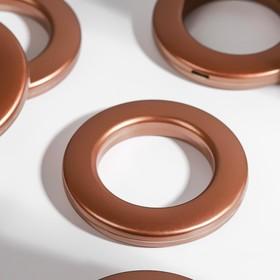 Люверсы для штор, d=3,1/5,5см, 10 шт, цвет коричневый Ош