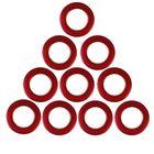 Люверсы для штор, d=3,1/5,5см, 10 шт, цвет бордовый