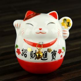 "Сувенир кот керамика ""Манэки-нэко"" неваляшка 8,5х9х8 см"