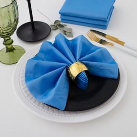 """Набор салфеток """"Этель"""" однотонный 32*32 - 4 шт, цв.голубой, пл. 192 г/м2, хл с ГМО"""