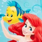 """Полотенце """"Принцессы: Ариель"""" 60х140 см, 100% хлопок 160гр/м2 - фото 105552275"""