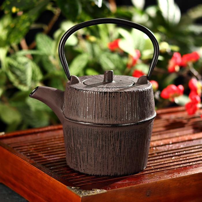 """Чайник с ситом 1 л """"Футун"""", цвет коричневый"""