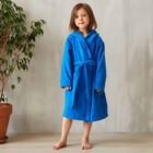 Халат махровый детский, размер 32, цвет синий, 340 г/м2 хл.100% с AIRO - фото 105553026