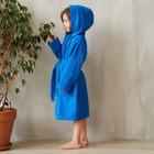 Халат махровый детский, размер 32, цвет синий, 340 г/м2 хл.100% с AIRO - фото 105553027