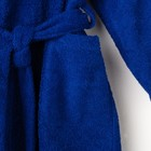 Халат махровый детский, размер 32, цвет синий, 340 г/м2 хл.100% с AIRO - фото 105553029