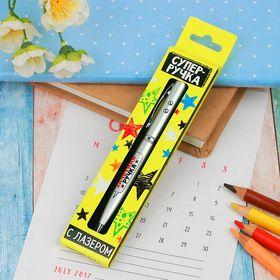 Ручка лазер в коробке «Зачётная ручка», с фонариком