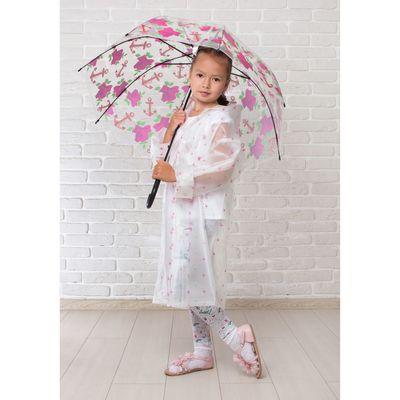 """Зонт детский полуавтоматический """"Розочки"""", r=42см, цвет чёрный"""