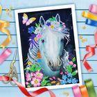 Вышивка бисером «Белая лошадь», 25 × 35 см. Набор для творчества