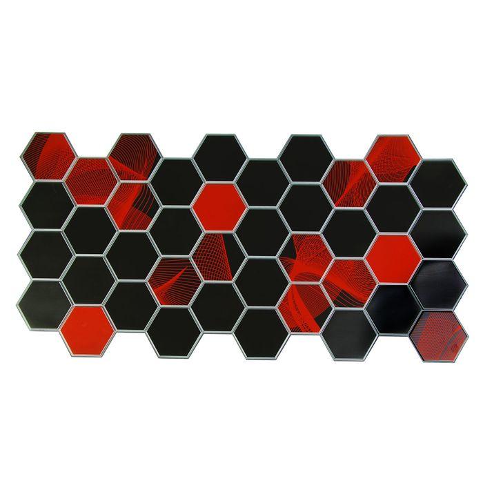Панель ПВХ Граненый шестигранник Электра 973*492