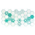 Панель ПВХ Граненый шестигранник ХМАРИ 973*492