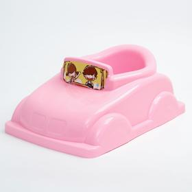 Детский горшок-игрушка «Машинка», цвет розовый
