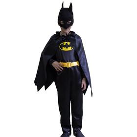 Карнавальный костюм «Бэтмен», комбинезон, маска, плащ, р. 28, рост 110 см