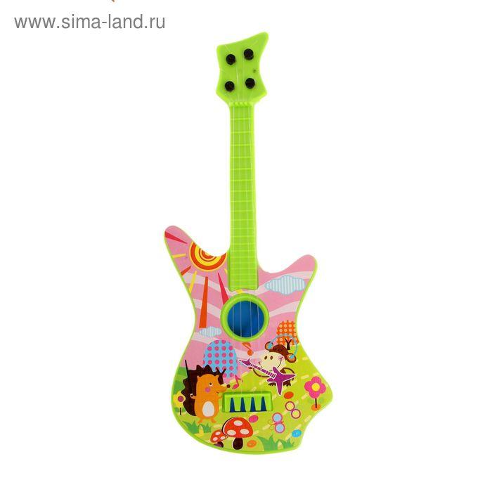 Музыкальная игрушка гитара «Звери на полянке», МИКС