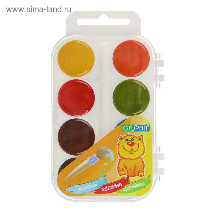 Акварель карамельная GASPAR, 8 цветов, в пластиковой коробке, без кисти
