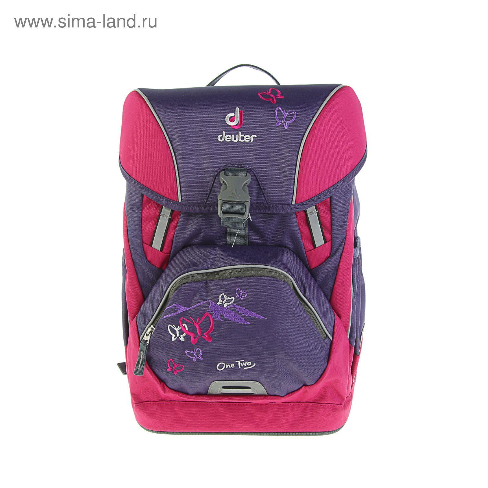 e49c39b59d7a Рюкзак школьный эргономичная спинка для девочки Deuter OneTwo 42*30*22 «Фиолетовая  бабочка