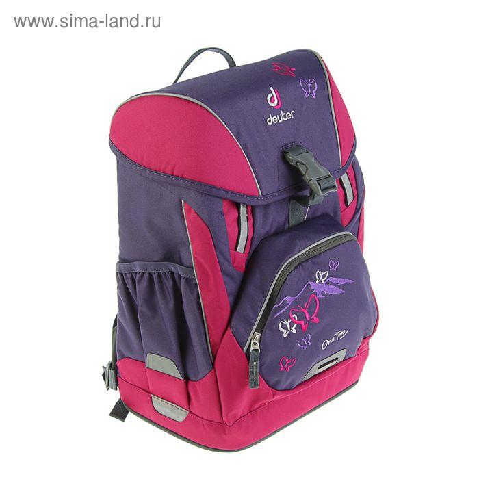 403263f4008a Рюкзак школьный эргономичная спинка для девочки Deuter OneTwo 42*30*22 «Фиолетовая  бабочка. prev