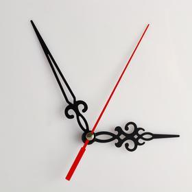 Комплект из 3-х стрелок для часов, черные, резные 69/96 (1046) (фасовка 100 наборов) Ош