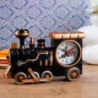 """Будильник """"Старый паровоз"""", медный матовый, 22х5.5х16 см"""