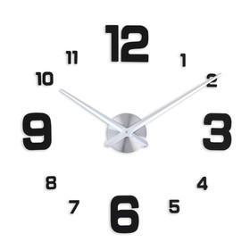 """Часы-наклейка DIY """"Эндерлин"""", чёрные, 120 см (+ механизм)"""