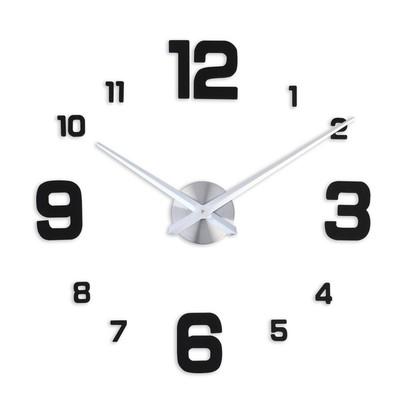 """Часы-наклейка DIY """"Эндерлин"""", чёрные, 120 см"""