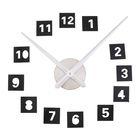 """Часы-наклейка DIY """"Квадратики"""", чёрные, 120см"""