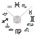 """Часы-наклейка DIY """"Знаки Зодиака"""", чёрные, 120см"""