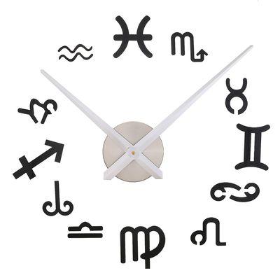 """Часы-наклейка, серия: Люди, """"Знаки Зодиака"""", чёрные, 120 см"""