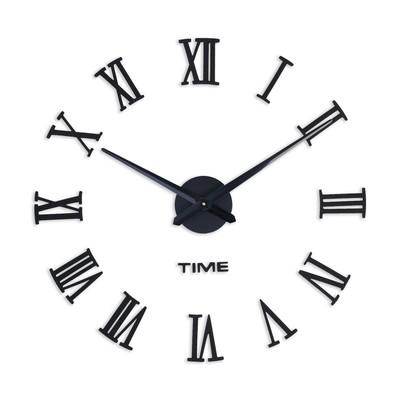 """Часы-наклейка DIY """"Лорье"""", чёрные, 120 см"""