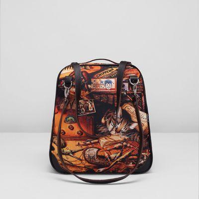Сумка-рюкзак на молнии, 1 отдел, ручки-трансформер, разноцветный