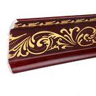 Плинтус потолочный коричневое золото 10,7х2,5х300