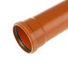 Труба канализационная НПВХ Хемкор, наружная, d=110 мм, 2000мм