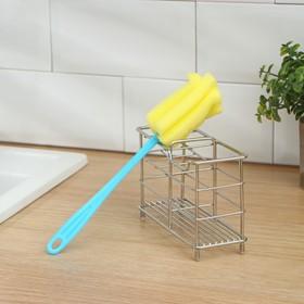 Ёршик для посуды «Тюльпан», 21×5 см, цвет МИКС