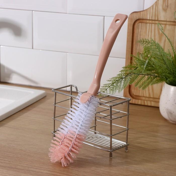 Ёршик для посуды двойной 31×6 см, цвет МИКС