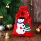 Карнавальный мешок «Снеговик», с ёлочкой - фото 452626