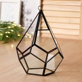Флорариум каркас 21x14 см золото