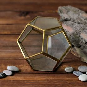 """The Floriana """"Dodecahedron"""" gold frame"""