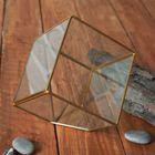 Флорариум каркас 12,5*12,5 см золото - фото 410553